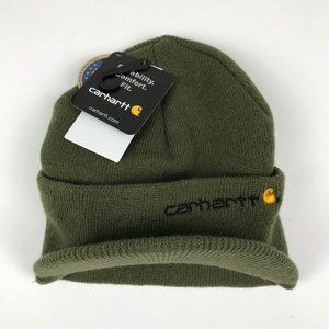 NWT Carhartt Visor Beanie Green Winter Hat
